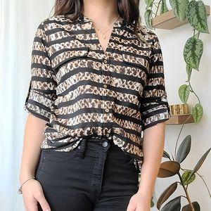 Calvin Klein button-down shirt striped shirt